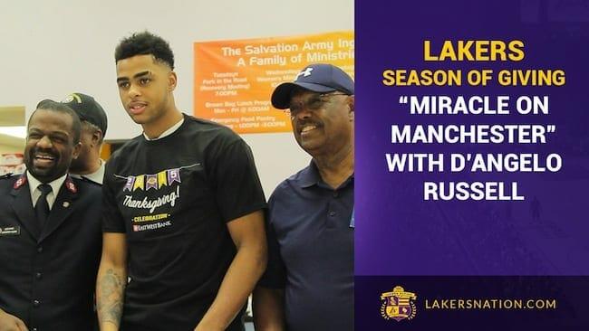 Lakers 2015 'season Of Giving' (videos)