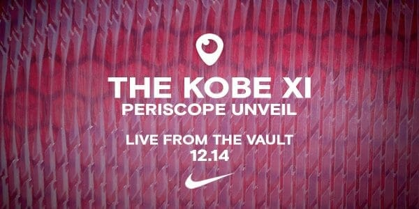 Lakers News: Nike Kobe Xi Will Be Unveiled On Periscope