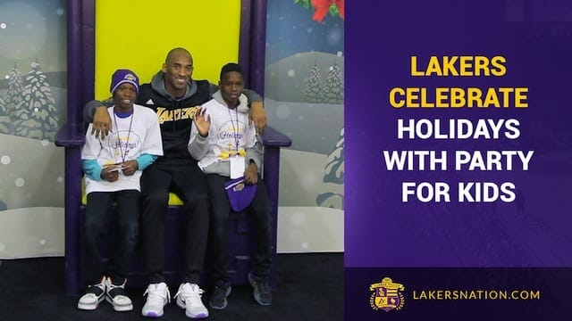 Lakers Celebrate Holidays With Party For Kids (video)