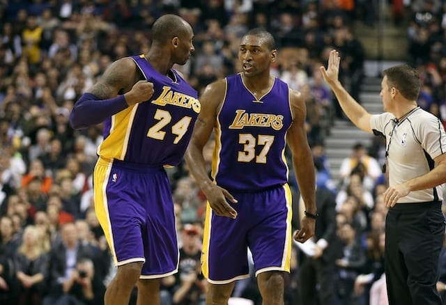 Kobe Bryant, Metta World Peace, Lakers