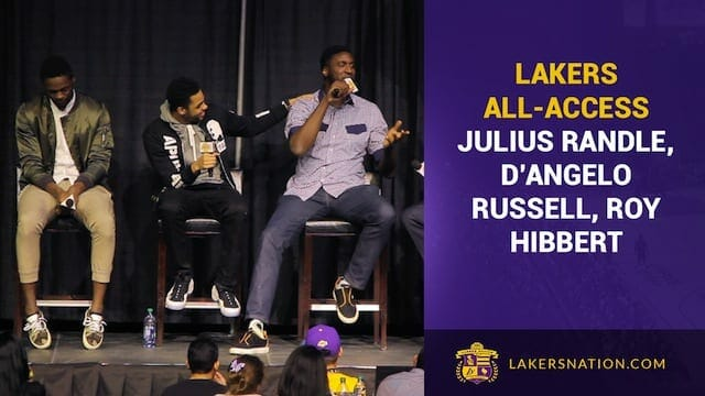 D'angelo Russell, Julius Randle, Roy Hibbert Candid At Lakers All-access (videos)
