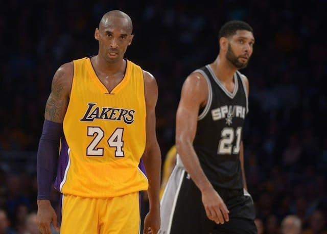 Kobe Bryant, Tim Duncan, Lakers, Spurs