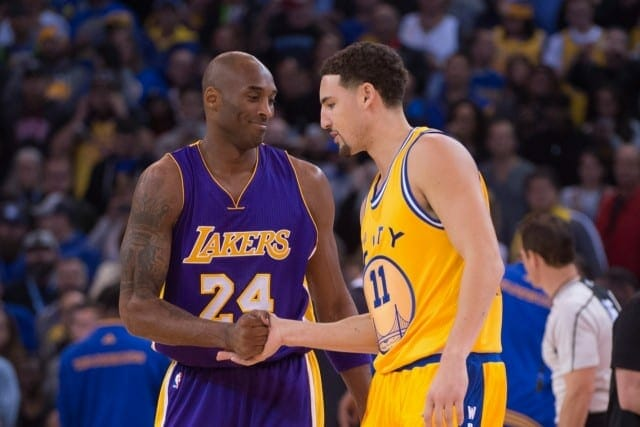 Lakers Video: Kobe Bryant Gives Klay Thompson His Game-worn Jersey