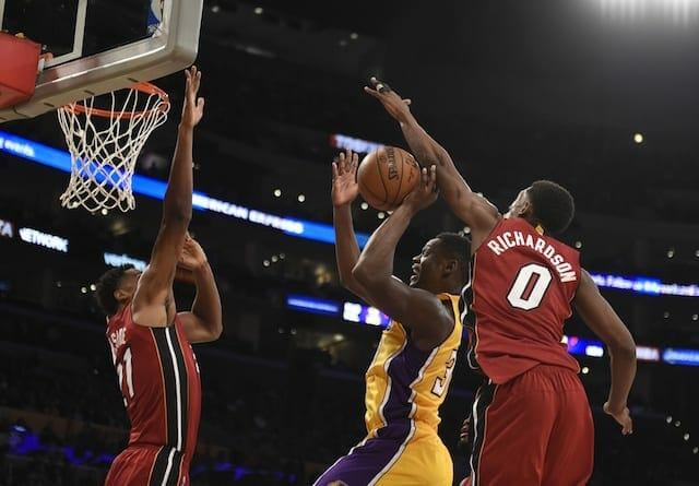 Game Recap: Julius Randle Jumper Lifts Lakers To Ot Victory Over Heat