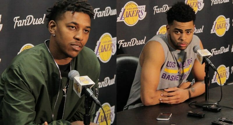 Lakers News: D'angelo Russell, Nick Young Address Media After Incident