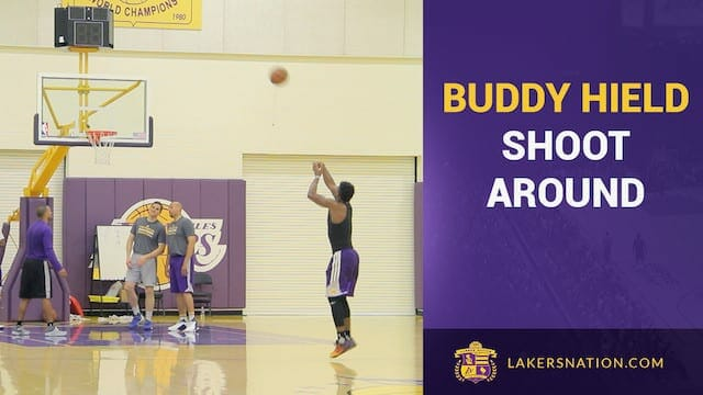 Buddy Hield Shooting Drills At Lakers Workout (video)