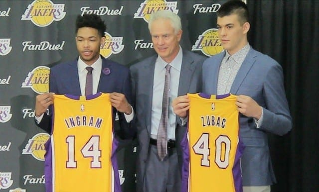 Video: Brandon Ingram, Ivica Zubac Lakers Introductory Press Conference