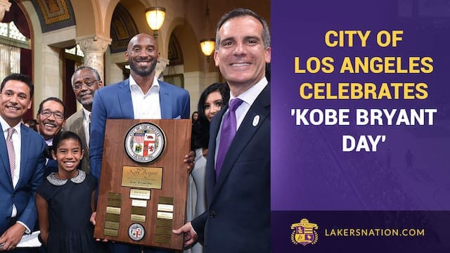Video: The City Of Los Angeles Celebrates Kobe Bryant Day