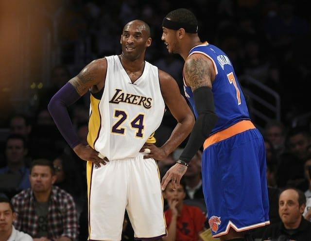 Kobe Bryant's Trash Talk Fueled A Carmelo Anthony Fourth Quarter Explosion