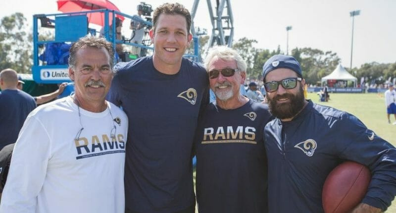 Lakers Coach Luke Walton Visits Los Angeles Rams Training Camp