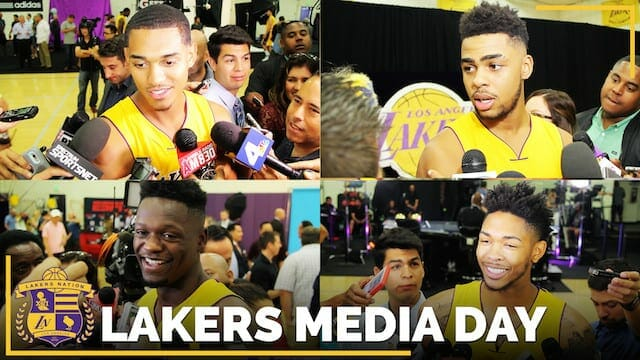 Los Angeles Lakers Media Day 2016 (videos)