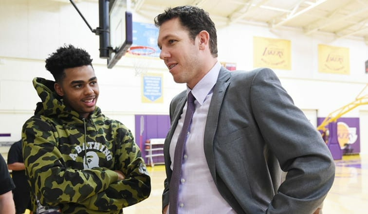 Lakers News: D'angelo Russell Raves About Luke Walton