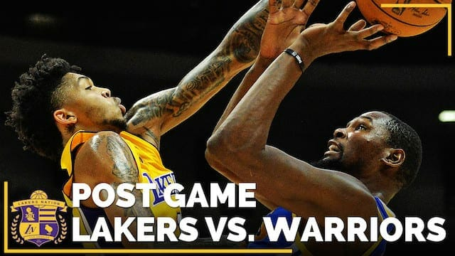 Los Angeles Lakers Vs. Golden State Warriors Postgame (videos)
