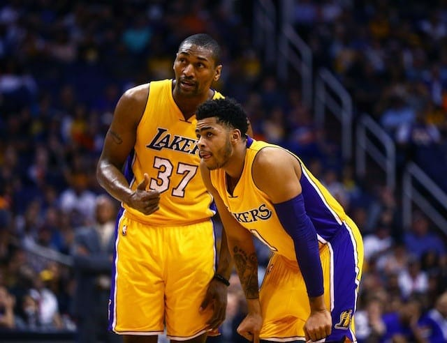 Lakers News: D'angelo Russell Remembers Advice Metta World Peace Gave Him Last Year