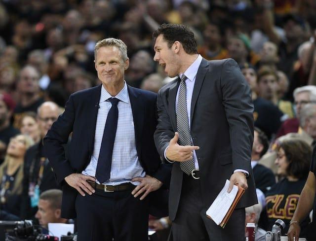 Lakers News: Steve Kerr Gives Luke Walton Opportunity To Prepare For Warriors