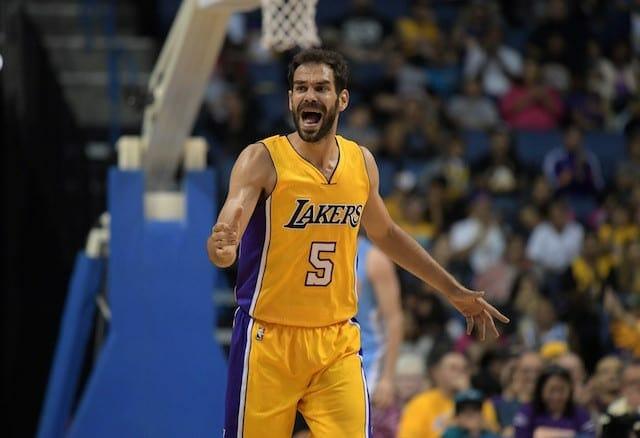 Lakers News: Luke Walton Says Jose Calderon Is Out For Season Opener
