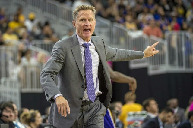 Warriors' Steve Kerr Thinks Lakers Are Building 'really Good Wealth Of Young Talent'