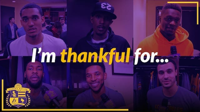 Video: I'm Thankful For ________ (lakers Edition!)