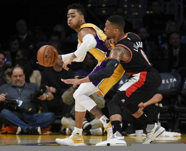 Lakers News: Damian Lillard Discusses Reason For Scuffle With D'angelo Russell
