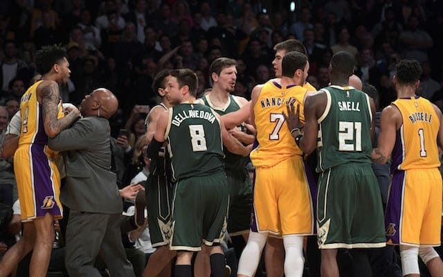 Lakers News: Luke Walton Irate Over Bucks' Treatment Of Brandon Ingram In Scuffle