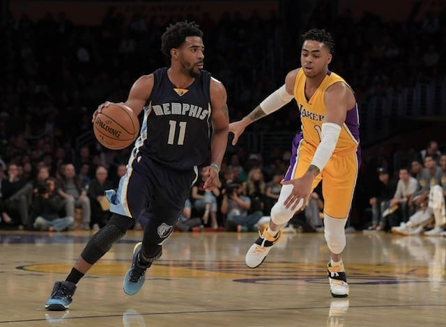 Lakers News: D'angelo Russell Says Mike Conley Is A Veteran He Looks Up To