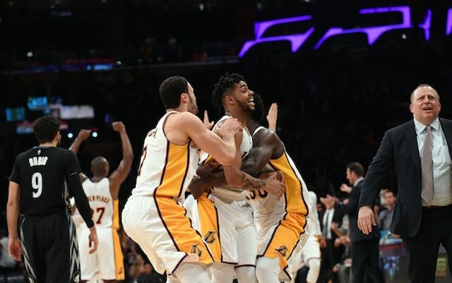 Game Recap: Russell Knocks Down Buzzer Beater To Earn Lakers Fourth-straight Victory