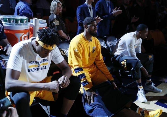 Paul George Asked About Free Agency, Pacers' Roster After Early Playoff Exit