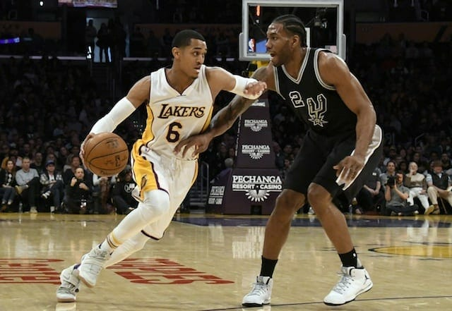 Lakers News: Jordan Clarkson Suffers Knee Contusion Against Spurs