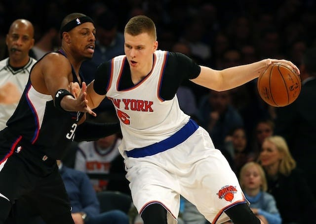 Knicks Star Kristaps Porzingis Claims His Twitter Was Hacked After Tweet About Clippers