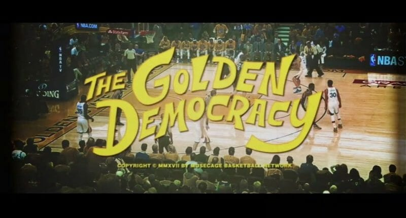 Lakers Video: Kobe Bryant Outlines Warriors In 'the Golden Democracy' Canvas