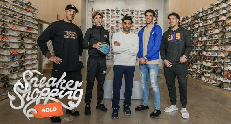 Video: Lonzo Ball, Rest Of Ball Family, Go Sneaker Shopping In Los Angeles