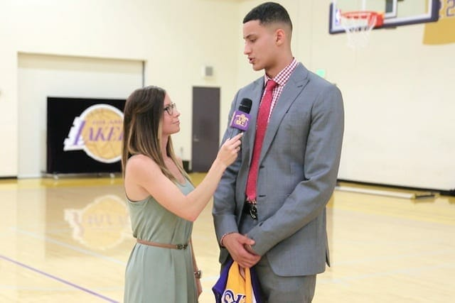 Kyle Kuzma Interviews With Lakers Nation (video)
