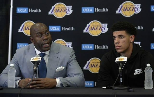 Lakers News: Lonzo Ball Embraces Magic Johnson's Challenge To Have His Jersey Retired
