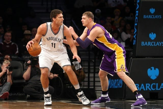 Lakers Trade D'angelo Russell, Timofey Mozgov For Brook Lopez And Nets' Draft Pick Kyle Kuzma