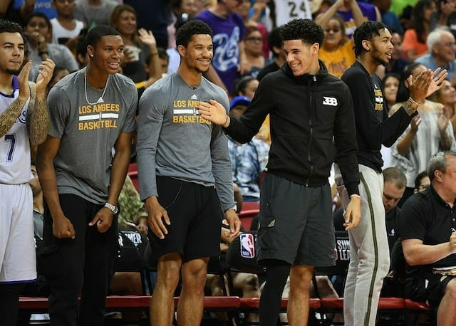 Lakers Video: Lonzo Ball, Josh Hart Answer Nba Trivia Questions During Rookie Photo Shoot