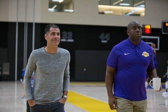 Lakerstrainingcamp-rob-pelinka-magic-johnson