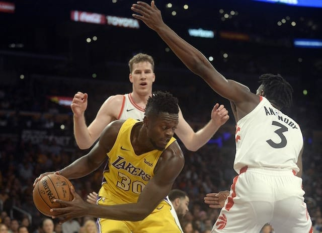 Lakers Recap: Strong Efforts From Kyle Kuzma & Julius Randle Not Enough In 101-92 Loss To Raptors