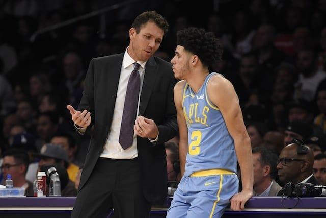 Lakers News: Luke Walton Believes Lonzo Ball Impacts Game In Positive Way Even When Not Scoring