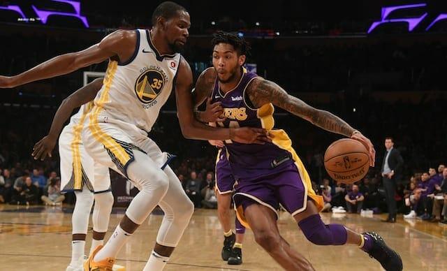 Brandon Ingram, Kevin Durant, Lakers, Warriors