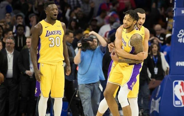 Brandon Ingram, Larry Nance Jr., Julius Randle, Lakers