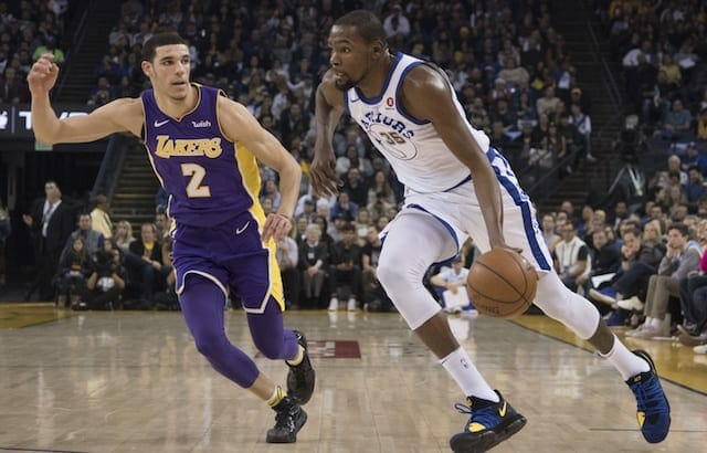 Lonzo Ball, Kevin Durant, Lakers, Warriors