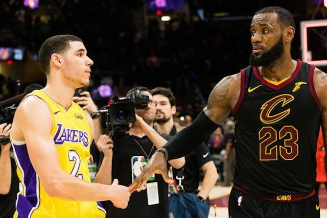 Lonzo Ball, LeBron James, Lakers, Cavaliers
