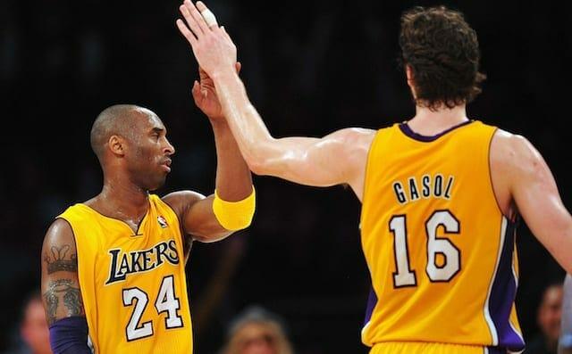 Kobe Bryant, Pau Gasol, Los Angeles Lakers