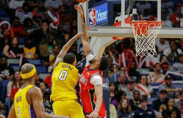 Corey Brewer, Kyle Kuzma, Anthony Davis, Lakers, Pelicans