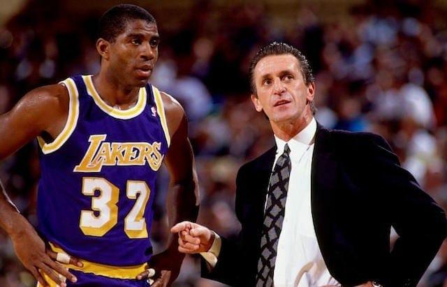 Magic Johnson, Pat Riley, Lakers, Knicks