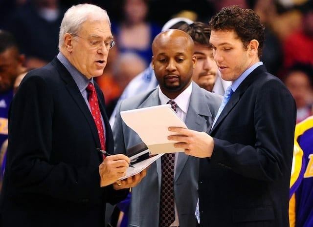 Phil Jackson, Brian Shaw, Luke Walton, Lakers
