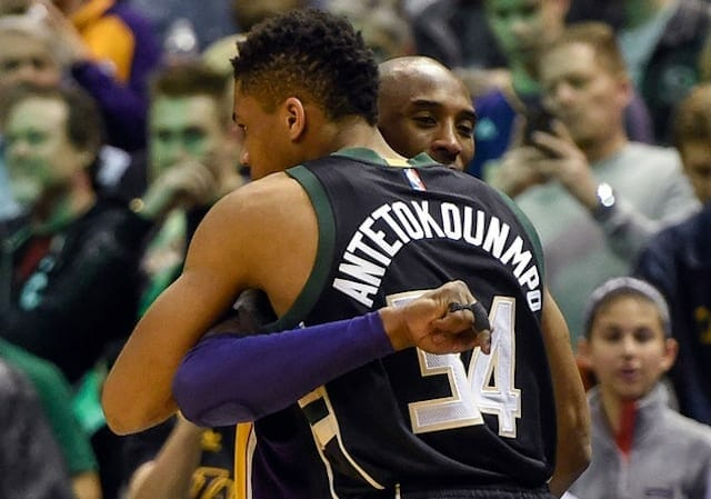 Giannis Antetokounmpo, Kobe Bryant, Los Angeles Lakers, Milwaukee Bucks