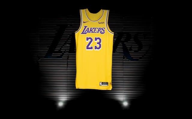 LeBron James, Lakers new Nike jersey