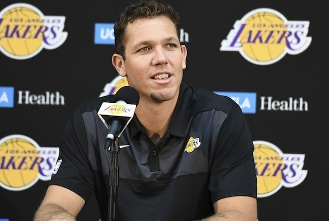 Luke Walton, Los Angeles Lakers head coach