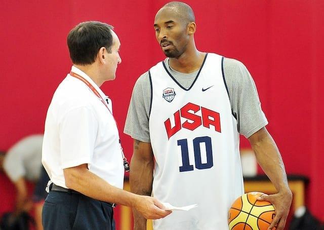 Kobe Bryant, Mike Krzyzewski, Team USA, Lakers